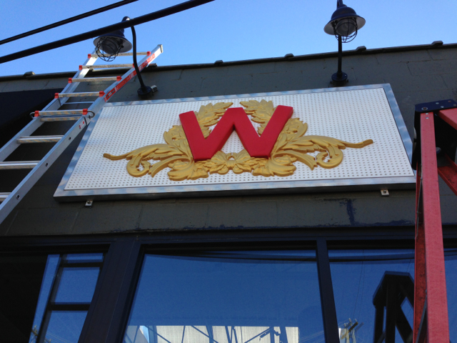 Exterior Sign installed