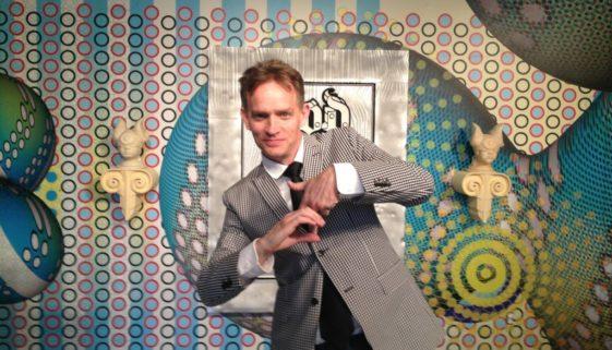 Elliott Earls Throwing Cranbrook Gang Sign at Hypertension Exhibition