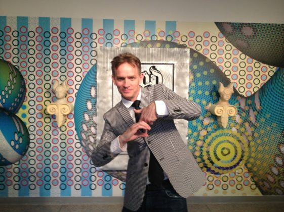 Elliott Earls Throwing Cranbrook Gang Sign at Hypertension Exhibition