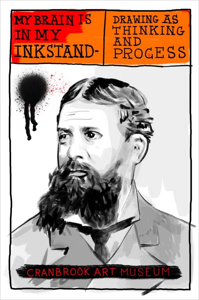 Portrait of Charles Sanders Peirce. Book Design & Drawing By Elliott Earls