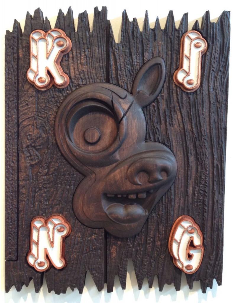 """""""King"""" By Elliott Earls Aspen Panel, Stain, Epoxy"""