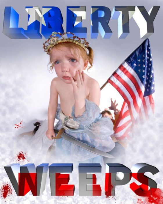 """""""Liberty Weeps"""" by Elliott Earls For Thoughts on Democracy at the Wolfsonian Museum"""