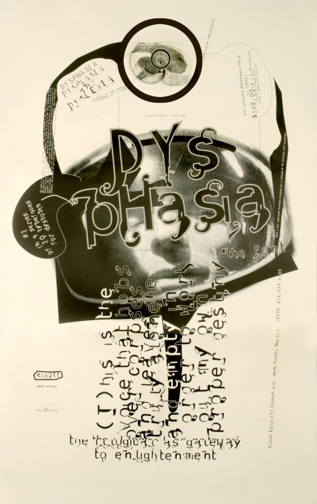 "Dysphasia Poster Front by Elliott Earls. 24x36"" Offset Litho, 1995."
