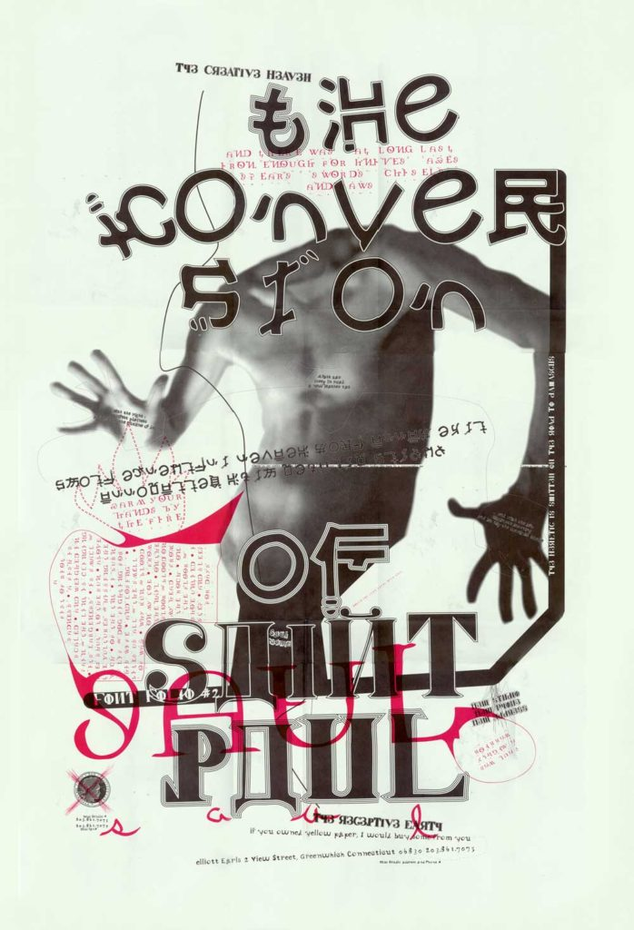 "The Conversion of St. Paul Poster Front by Elliott Earls. 24x36"" Offset Litho, 1995."