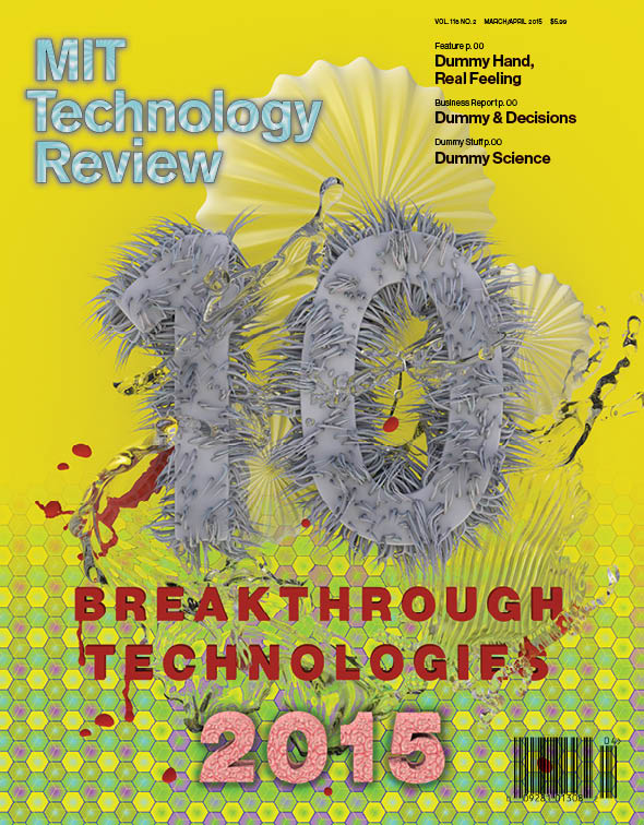 MIT Technology Review Cover by Elliott Earls