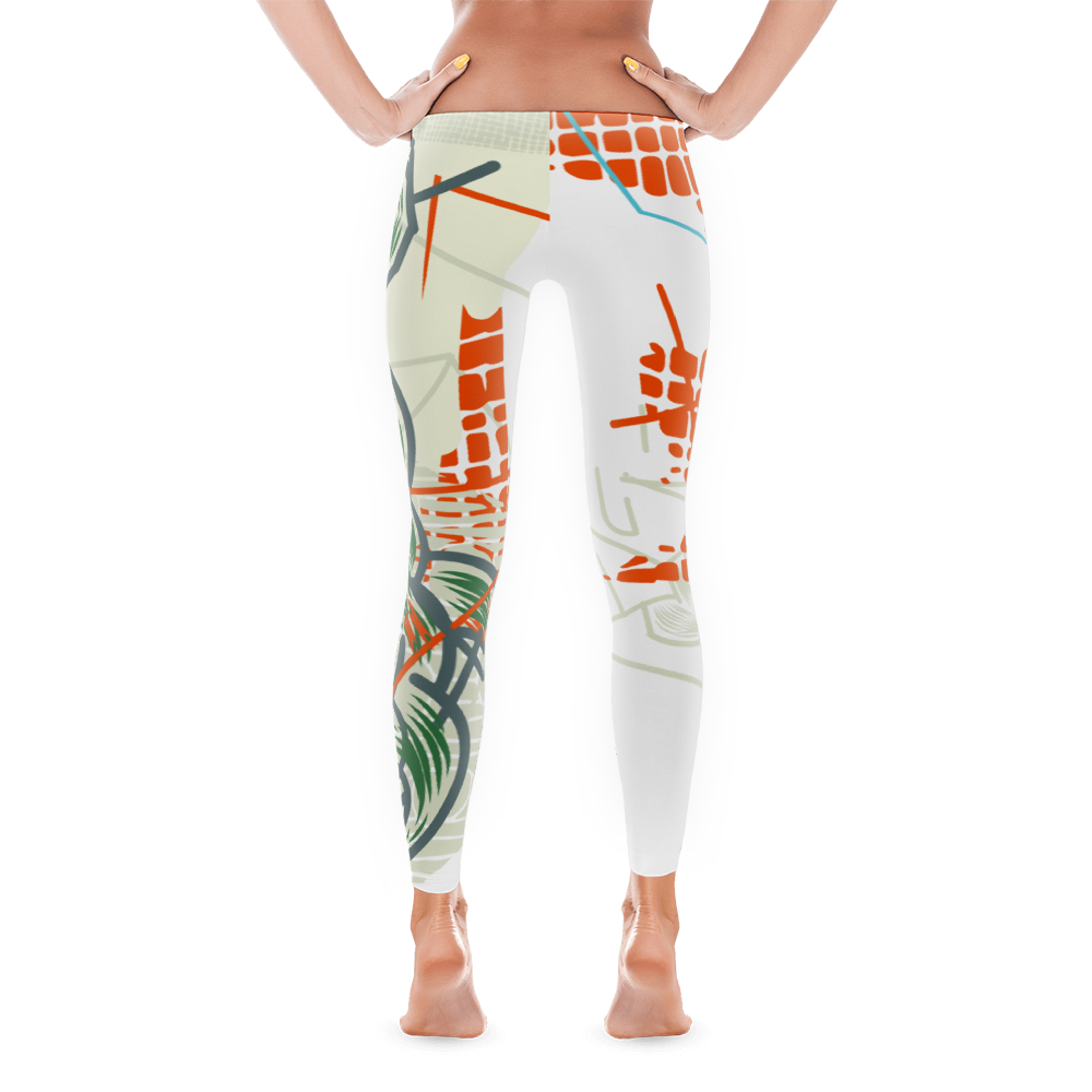 "Front View of ""The Complete Loss of Subjective Self-Identity"" Inspired Leggings"