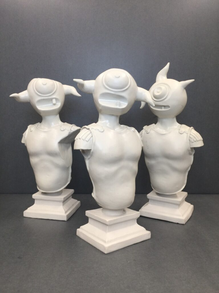 Porcelain Figures from Elliott Earls Milan Installation Now at MINISLIMITED